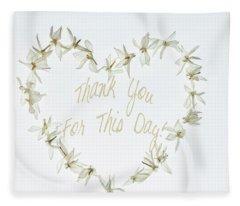 Gratitude Fleece Blanket