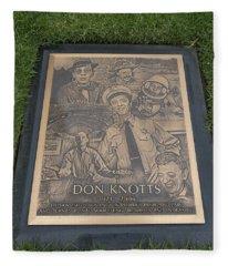 Gravesite Of Don Knotts - Westwood Cemetery Fleece Blanket