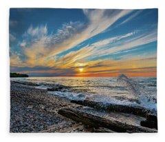 Graveyard Coast Sunset Fleece Blanket