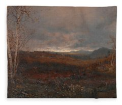 Gray Day In Hill Country Fleece Blanket