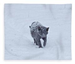 Gray On White Fleece Blanket