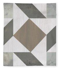 Gray Quilt Fleece Blanket