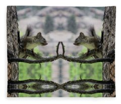 Gray Squirrel Soul Mates Fleece Blanket