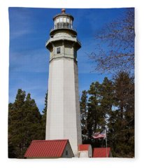 Grays Harbor Lighthouse Fleece Blanket