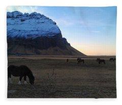 Grazing At Dawn Fleece Blanket
