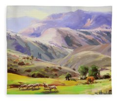 Grazing In The Salmon River Mountains Fleece Blanket