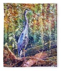 Marsh Bird Paintings Fleece Blankets