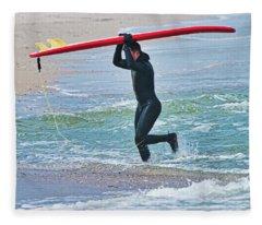 Great Day Of Surfing Fleece Blanket