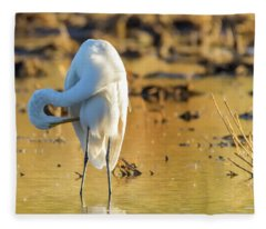 Great Egret 1704-111817-1cr Fleece Blanket
