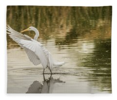 Great Egret 4763-112717-1 Fleece Blanket