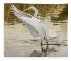 Great Egret 4763-112717-1cr Fleece Blanket