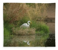 Great Egret 5755-112717-1 Fleece Blanket
