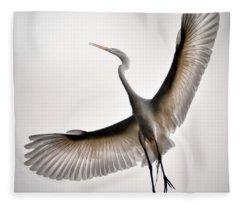 Great Egret Majesty Fleece Blanket