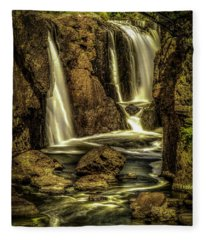 Great Falls Close Up Fleece Blanket