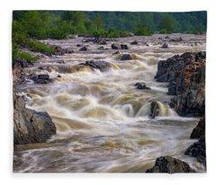 Great Falls Of The Potomac River Fleece Blanket