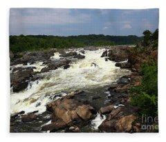 Great Falls On The Potomac River Maryland Fleece Blanket