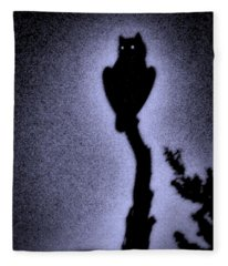 Great Horned Owl In The Desert 4 Fleece Blanket