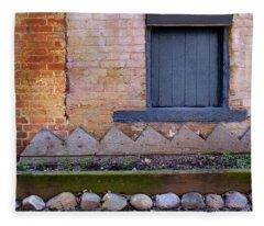 Great Place For Flowers Below A Purple Window In Frederick Maryl Fleece Blanket