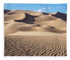 Great Sand Dunes National Park In Colorado Fleece Blanket