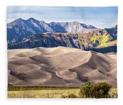 Great Sand Dunes Of Southern Colorado Fleece Blanket