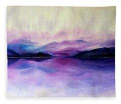 Great Smoky Lakeside Fleece Blanket