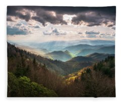 Great Smoky Mountains National Park North Carolina Scenic Landscape Fleece Blanket