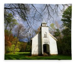 Great Smoky Mountains Spring Storms Over Palmer Chapel  Fleece Blanket