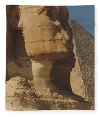 Great Sphinx Of Giza Fleece Blanket