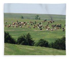 Great Western Cattle Drive Fleece Blanket