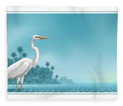 Great White Fleece Blanket