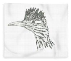 Greater Roadrunner Fleece Blanket
