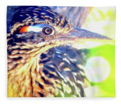 Greater Roadrunner Portrait 2 Fleece Blanket