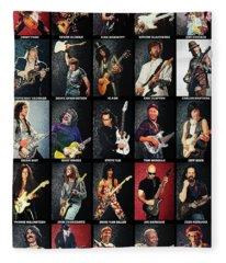 Greatest Guitarists Of All Time Fleece Blanket
