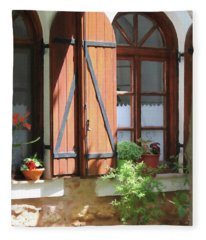 Greece Home Window Fleece Blanket