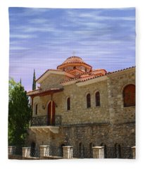 Greece Retreat Fleece Blanket