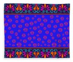 Greek Lotus Fleece Blanket