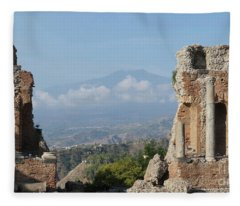 Greek Theatre Taormina Fleece Blanket