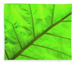 Green Abstract No. 5 Fleece Blanket