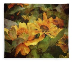 Green And Gold 1068 Idp_2 Fleece Blanket