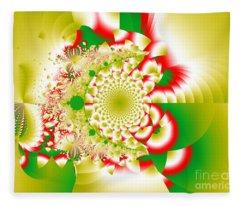 Green And Yellow Collide Fleece Blanket