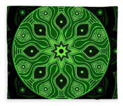 Green Beauty Fleece Blanket