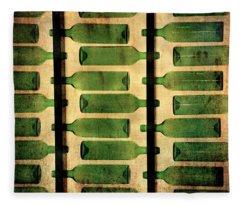 Green Bottles Fleece Blanket