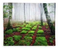 Green Brick Road Fleece Blanket