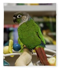 Green Cheek Conure Fleece Blanket
