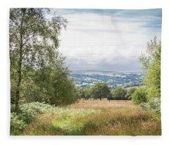 Green Corridor Fleece Blanket