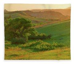 Green Dakota Dream Fleece Blanket