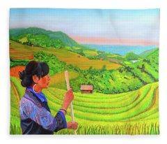 Green Destiny Fleece Blanket