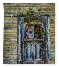 Green Door Fleece Blanket