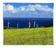 Green Energy Fleece Blanket