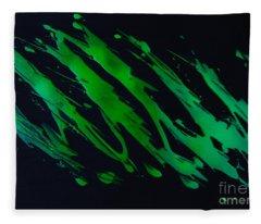 Green Escape Fleece Blanket